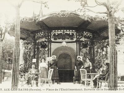 Refreshment Bar (Tap Room) of the Source De St. Simon - Aix-Les-Bains (Savoie), France--Photographic Print