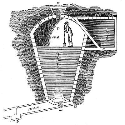 Refrigeration: Sectional View of an Ice House--Giclee Print