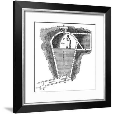 Refrigeration: Sectional View of an Ice House--Framed Giclee Print