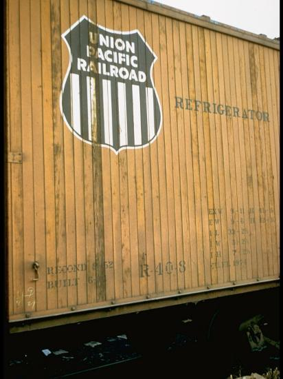 Refrigerator Box Car Showing the Logo of the Union Pacific Railroad  Photographic Print by | Art com