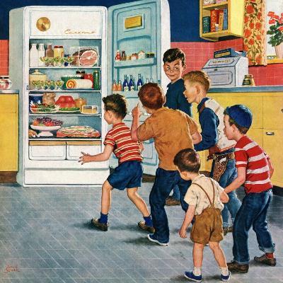 """Refrigerator Raid"", February 19, 1955-Amos Sewell-Giclee Print"