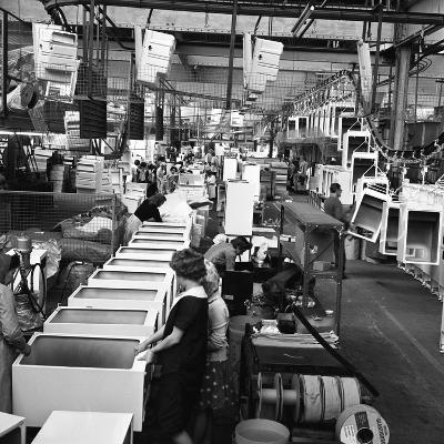Refrigerators Being Assembled at the Gec in Swinton, South Yorkshire, 1963-Michael Walters-Photographic Print