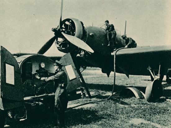 Refuelling a Wellesley Bomber, 1940-Unknown-Photographic Print