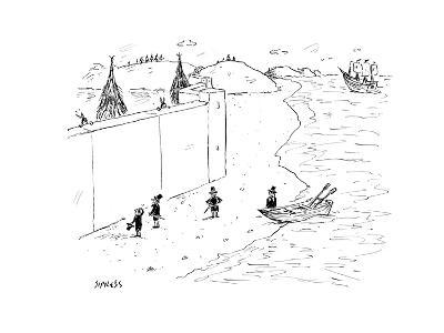 Refugees are denied entry into America - Cartoon-David Sipress-Premium Giclee Print