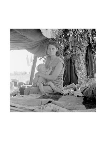 Refugees of the Drought of the Dust Bowl-Dorothea Lange-Art Print