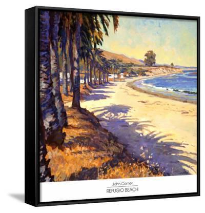 Refugio Beach-John Comer-Framed Canvas Print