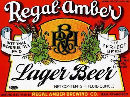 Regal-Amber Lager Beer--Art Print