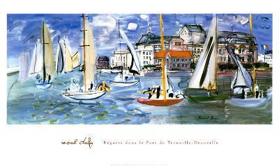 Regates Dans le Port de Trouville-Raoul Dufy-Art Print