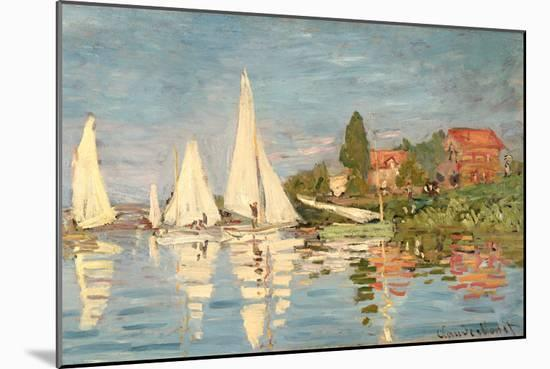 Regatta at Argenteuil, C.1872-Claude Monet-Mounted Premium Giclee Print