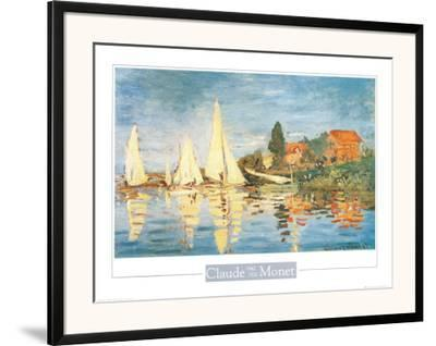Regatta at Argenteuil-Claude Monet-Framed Art Print