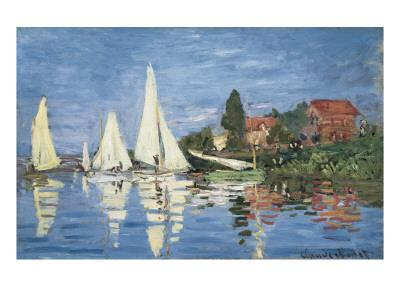 Regatta at Argenteuil-Claude Monet-Art Print