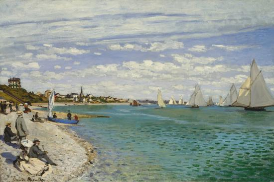 Regatta at Sainte- Adresse-Claude Monet-Art Print