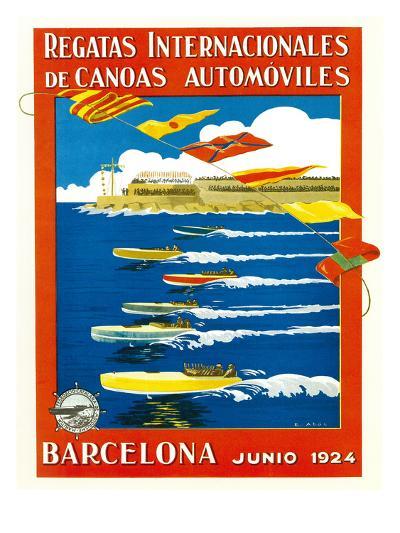 Regatta Internacionales De Canoas Promotion-Lantern Press-Art Print