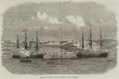 Regatta of Boats of the Channel Fleet at Lisbon--Giclee Print