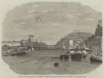 Regatta on the Danube at Buda-Pesth, During the Visit of the Emperor of Austria--Giclee Print