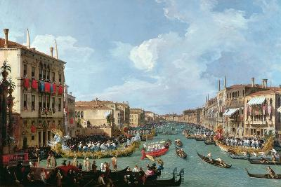 Regatta on the Grand Canal-Canaletto-Giclee Print