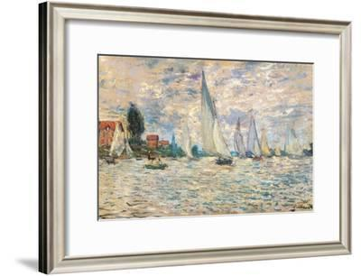 Regattas at Argenteuil-Claude Monet-Framed Art Print