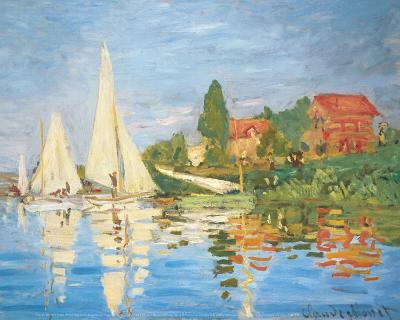 Regattas in Argenteuil-Claude Monet-Art Print