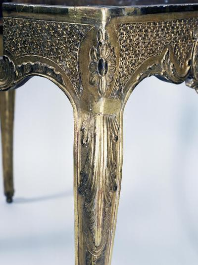 Regency Style Carved and Gilt Wood Table, France, First Half 18th Century, Detail--Giclee Print