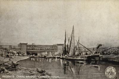 Regent's Canal Bridge, Camden Town--Giclee Print