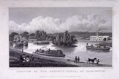 Regent's Canal, Paddington, London, 1828-S Lacey-Giclee Print