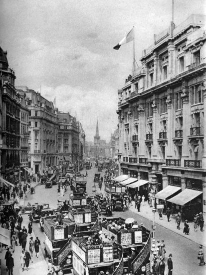 Regent Street, London, 1926-1927-McLeish-Giclee Print