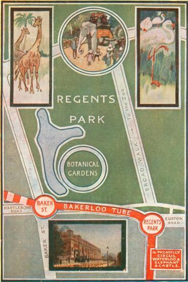 Regents Park and Botanical Gardens, Showing Local Railway Stations--Giclee Print