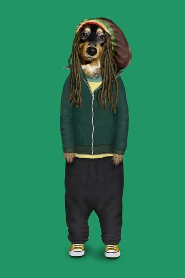 Reggae (Pets Rock)-Takkoda-Art Print