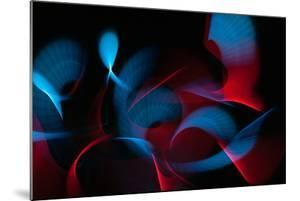 Light Painting Abstract Background. Blue and Red Light Painting Photography, Long Exposure, Ripples by Regina M art