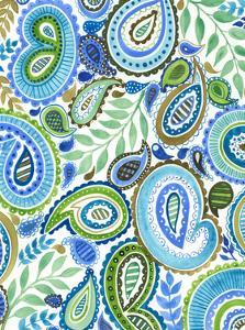 Blue & Green Paisley II by Regina Moore