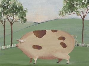 Folk Farm III by Regina Moore