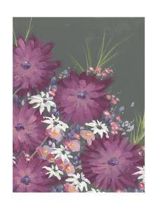 Mauve Wildflower Garden II by Regina Moore