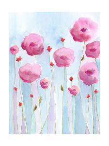 Pink Florets I by Regina Moore