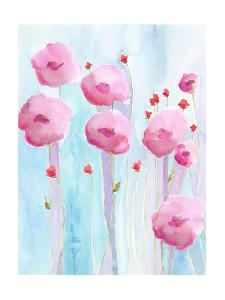 Pink Florets II by Regina Moore