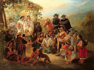 Regional Costumes, 1850-Johann Moritz Rugendas-Giclee Print