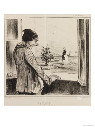 Regret-Honore Daumier-Giclee Print