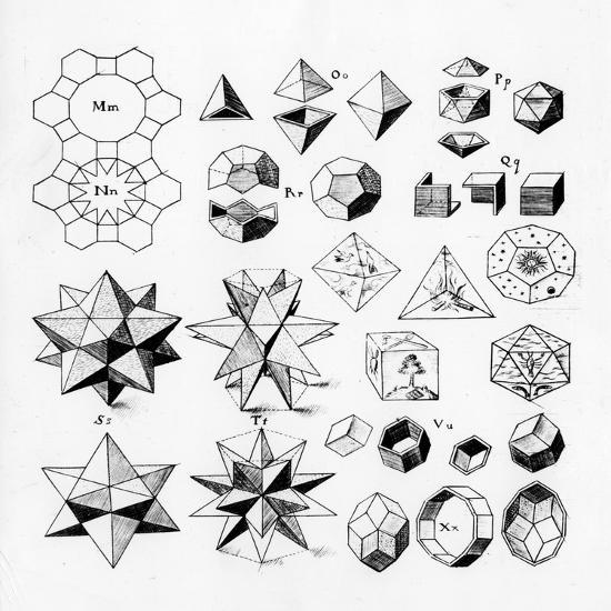 Regular Geometrical Solids of Various Types, 1619--Giclee Print