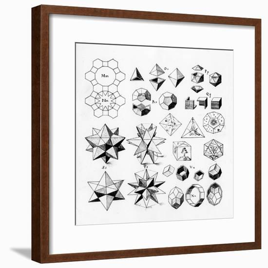 Regular Geometrical Solids of Various Types, 1619--Framed Giclee Print