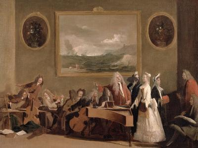 Rehearsal of an Opera, c.1709-Marco Ricci-Giclee Print