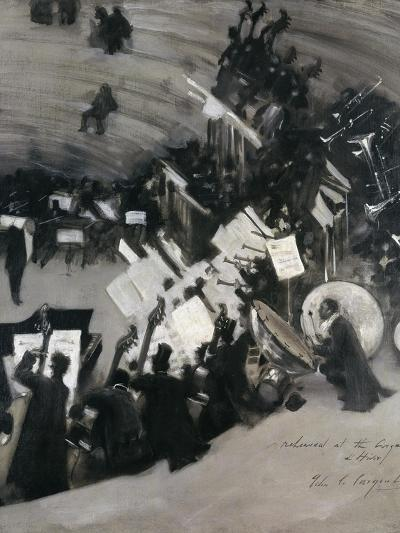 Rehearsal of the Pasdeloupe Orchestra-John Singer Sargent-Giclee Print
