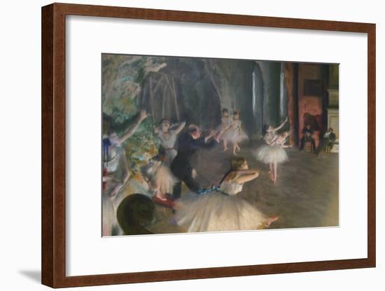 Rehearsal on Stage-Edgar Degas-Framed Art Print