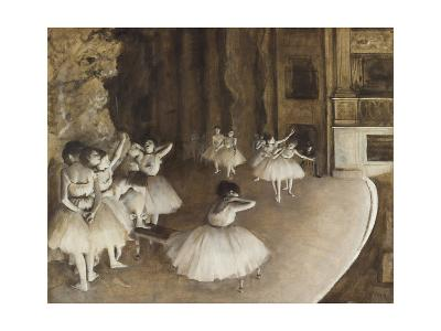 Rehearsal on the Stage, 1874-Edgar Degas-Giclee Print