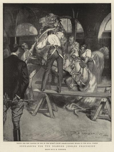 Rehearsing for the Diamond Jubilee Procession-Frederick Henry Townsend-Giclee Print