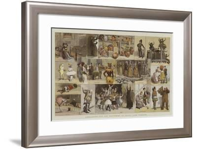 Rehearsing for the Pantomime at Drury Lane Theatre-Adrien Emmanuel Marie-Framed Giclee Print