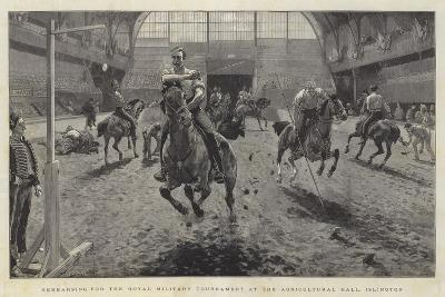 Rehearsing for the Royal Military Tournament at the Agricultural Hall, Islington-William Small-Giclee Print