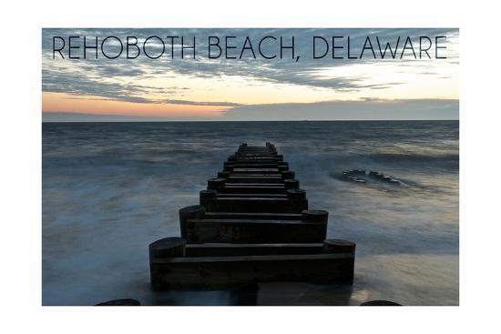 Rehoboth Beach, Delaware - Old Ride-Lantern Press-Art Print