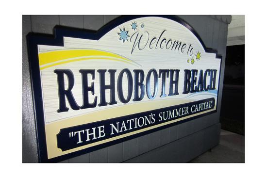 Rehoboth Beach, Delaware - Welcome Sign-Lantern Press-Art Print
