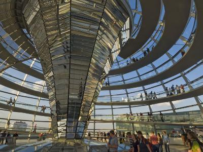 Reichstag Building, Designed by Sir Norman Foster, Berlin, Germany-Neale Clarke-Photographic Print