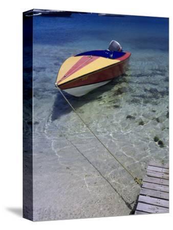 Water Taxi Tied to Dock, Bequia, Genadines