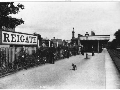 Reigate Station, Surrey--Photographic Print